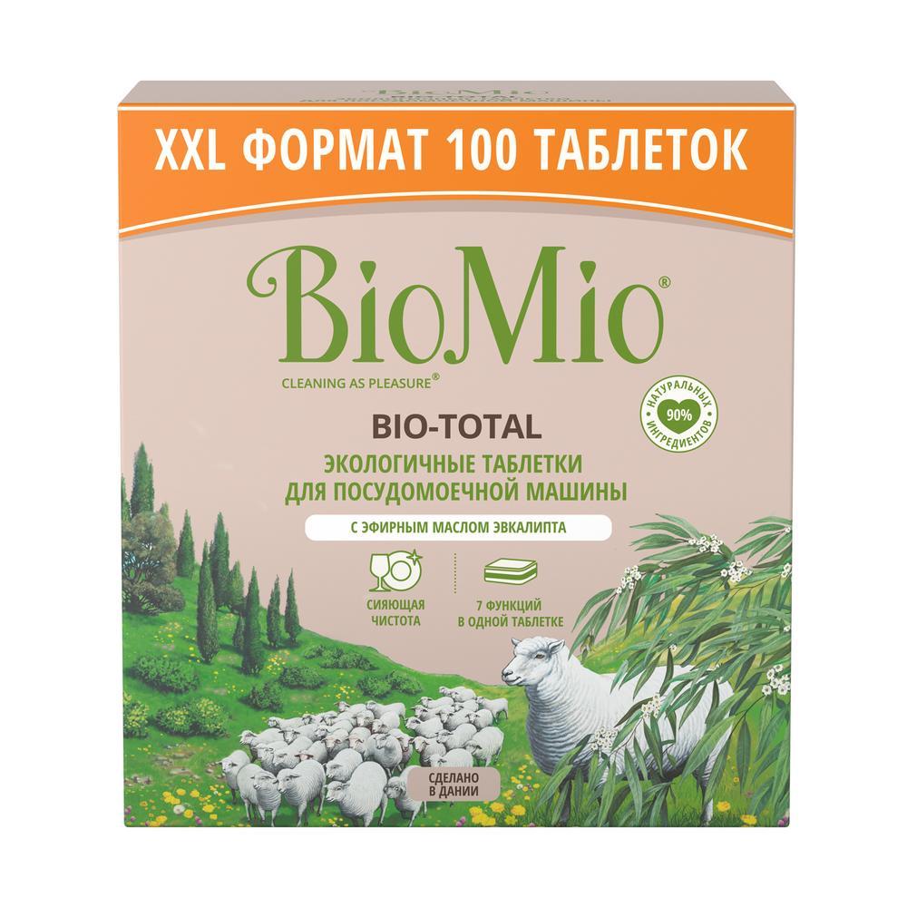 """Таблетки """"Bio-total"""" для посудомоечной машины, с маслом эвкалипта"""