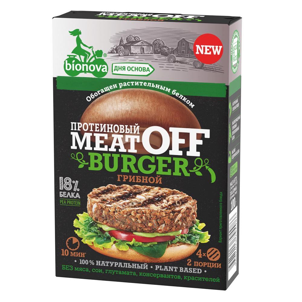 """Смесь для приготовления овощных протеиновых бургеров """"MeatOff бургер"""" грибной"""