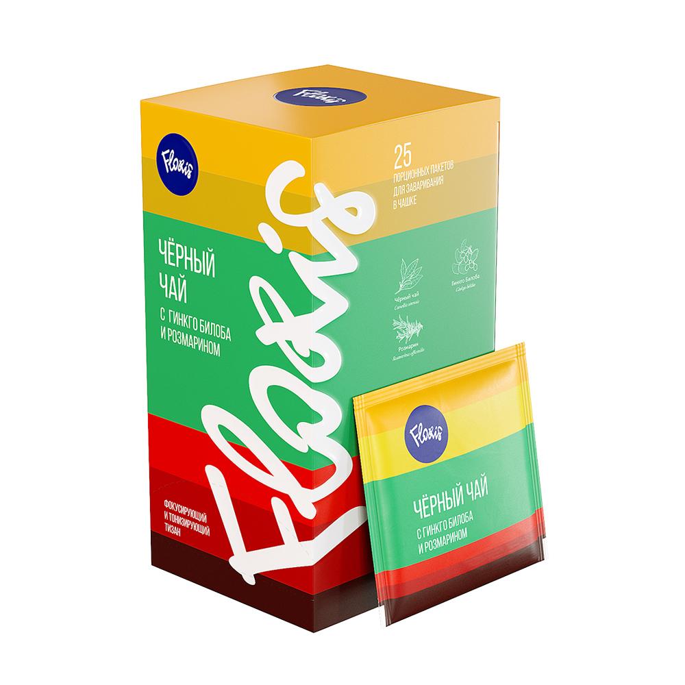 Чай чёрный с гинкго билоба и розмарином, фильтр-пакет, саше