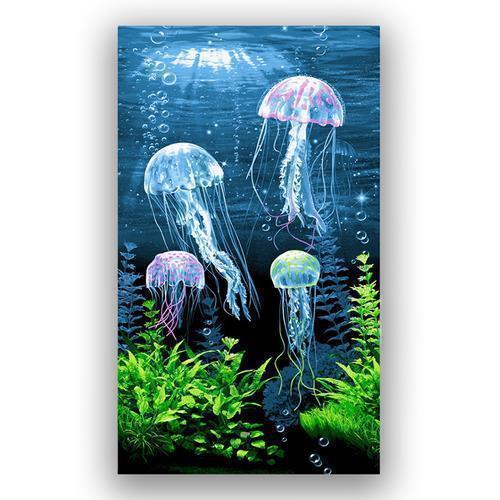 Полотенце вафельное пляжное 3089/1 Медузы 150/75 см