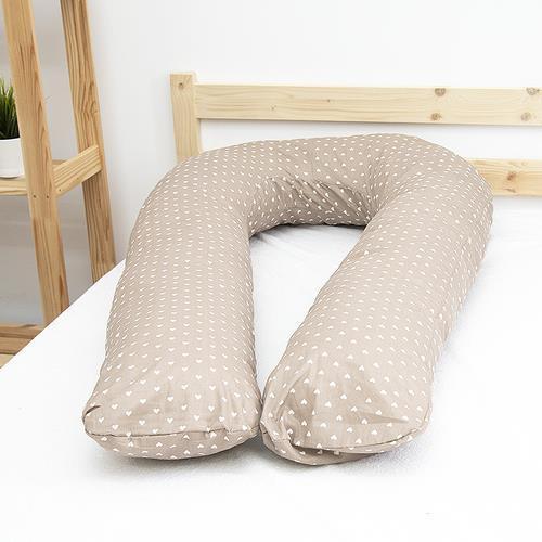 Наволочка бязь на подушку для беременных U-образная 1746/18 цвет кофе