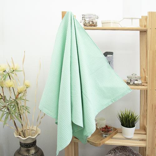 Полотенце вафельное банное Премиум 150/75 см цвет 301 мята